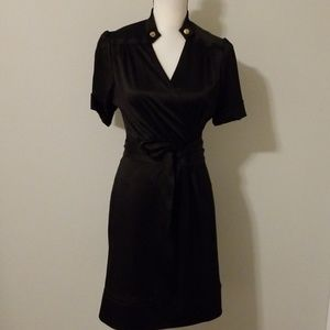 Diane von Furstenberg black silk wrap dress